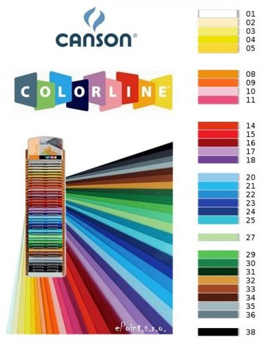 Karton Canson Colorline 50x70 220gr - zelena - 30