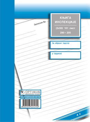 Knjiga inspekcije A4 ncr