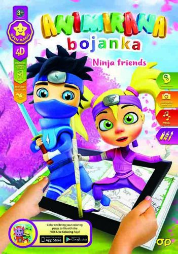 Bojanka 4D Ninja friends