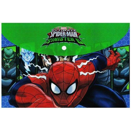 Fascikla A4 dugme pvc Spider-man