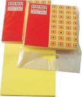 Blokčić samolepljivi 75x75 žuti fluo Memoris - RASPRODAJA