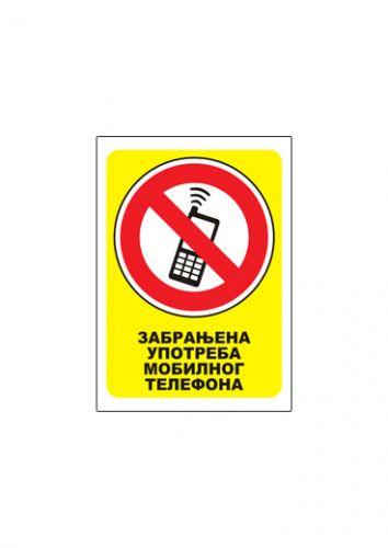 Nalepnica ZABRANJENA UPOTREBA MOBILNOG TELEFONA A7