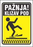 Nalepnica KLIZAV POD A7
