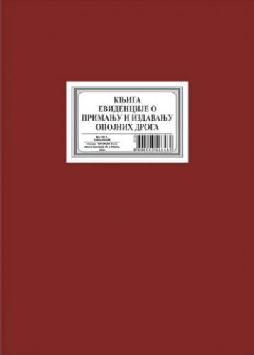 Knjiga evid. o prim. i izdav. opojnih droga-narkotika B4/101l