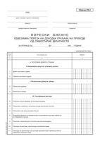 PB2 (A3 OFS) - Poreska prijava za akontaciju-konačno utvrđenog poreza na prihode od samostalne delatnosti