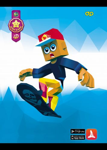 Puzzle 4D Snowboarder - RASPRODAJA